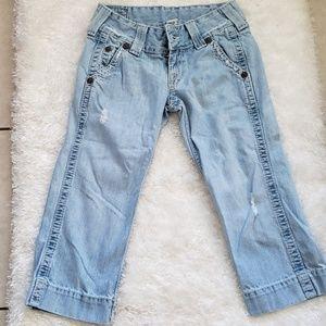 TRUE RELIGION sammy big T jeans shorts